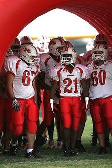 Football Team, American Football, Pre-game, Uniforms