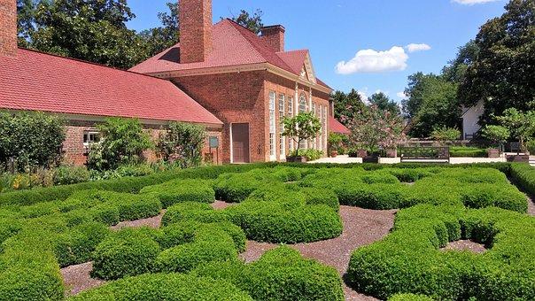 Mount Vernon, Garden, Brick House, Mansion, Farm