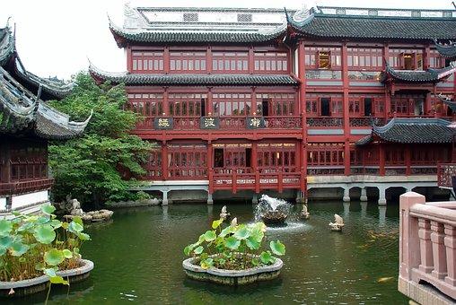 China, Shanghai, Mansion Yu, Tradition, Garden, Aquatic
