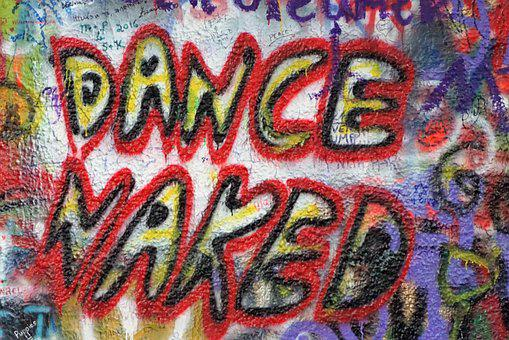 John Lennon Wall, Prague, Dance, Naked, Grafitti