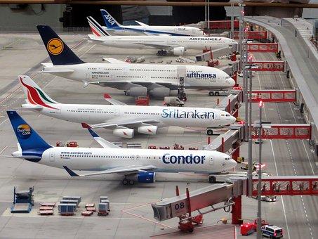 Model Planes, Airplanes, Miniatur Wunderland, Hamburg