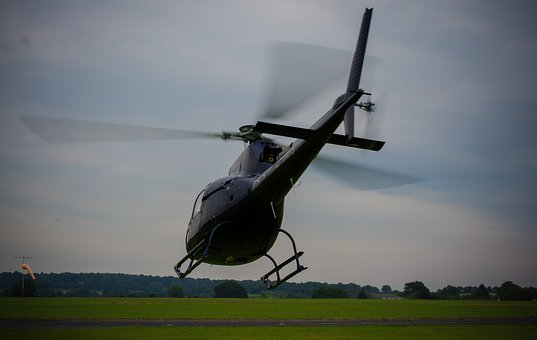 Helicopter, Rotor Blades, Take Off, Aircraft, Transport