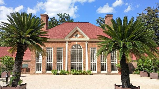 Mount Vernon, Palm Trees, House, Mansion, Plantation