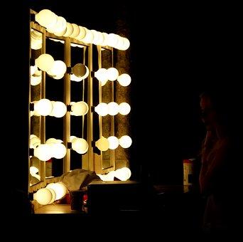 Vanity, Mirror, Lights, Wall, Bulbs, Incandescent
