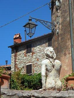 Mediterranean, Tuscany, Bergdorf, Home, Stone Walls