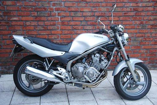 Motorcycle, Yamaha, Xj600, Naked, Silver
