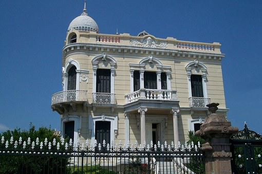 Mansion, Neoclassical, Lesbos, Greece, Mytilene, Island