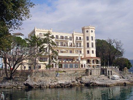 Hotel, Croatia, Hotel Miramar, Past, Europe, Opatija