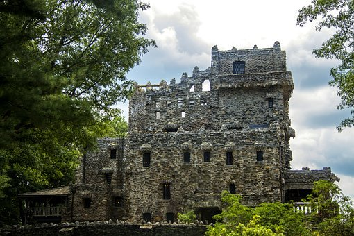 Castle, Gillette Castle, Connecticut, Woods, Outside