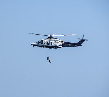 Helicopter, Flying, Rescue, Police, Emergency, Chopper