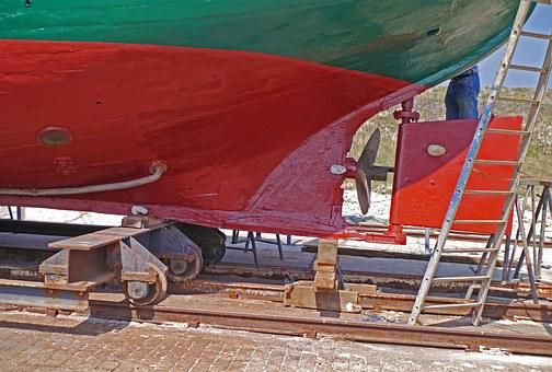 Cutter, Hull, Rear, Propeller, Helm, Dock, Dry Dock
