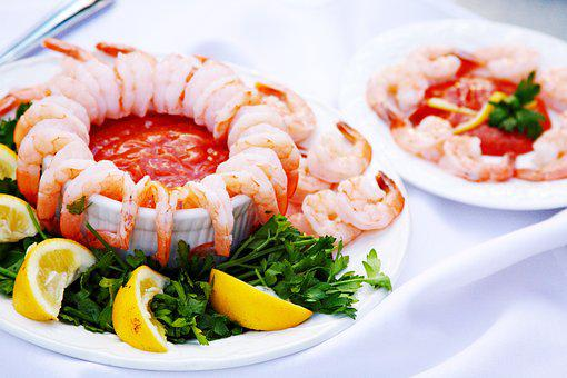 Shrimp Cocktail, Food Presentation, Seafood