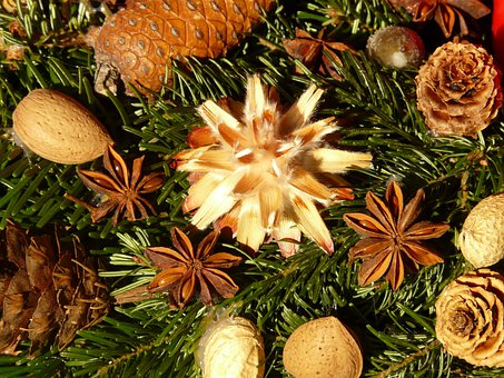 Advent Wreath, Seeds, Ornament, Silver Seed