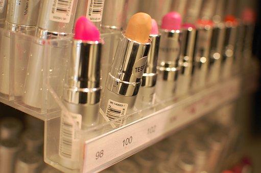 Lipstick, Yellow, Shop, Shelf, Sale, Beauty, Vanity