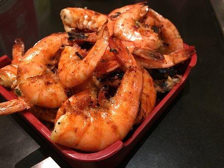 Shrimp, Prawn, Seafood, Food, Cooked, Delicious, Sea
