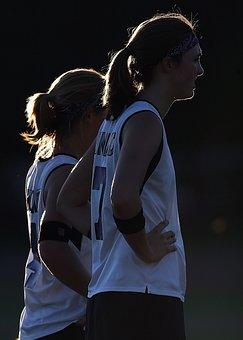 Athletes, Female, Silhouette, Field Hockey, Team Mates