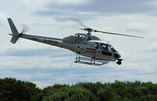Helicopter, Sky News, News, Sky, Air, Fly, Chopper