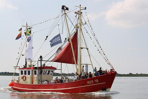 Harbour Days, Husum, Sea, Shrimp, Korso, North Sea, Sky
