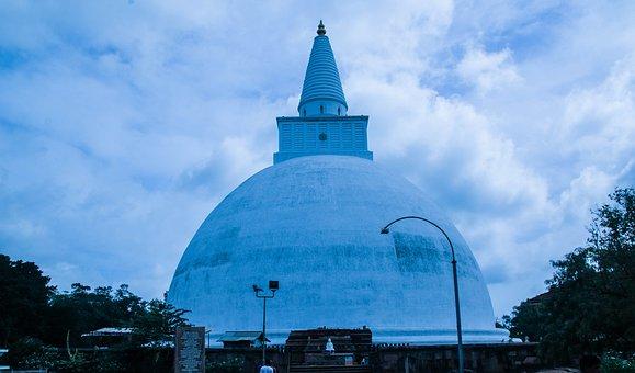 Sri Lanka, Buddhist, Stupa, Mirisawetiya