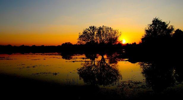 Anuradhapura, Sri Lanka, Sunset, Lake