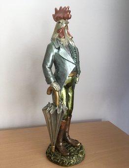 Gockel, Hahn, Figure, Sculpture, Vanity, Vain, Pride