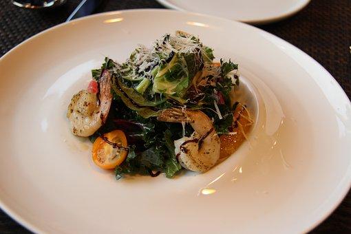 Salad, Shrimp Salad, Vegetable Salad