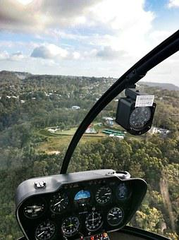 Helicopter, View, Chopper, Australia, Queensland