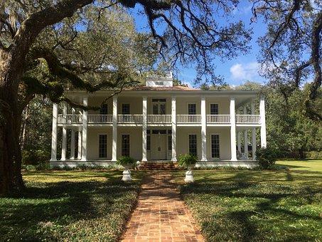 Mansion, Old, Antique, House, Villa, Balcony, Porch