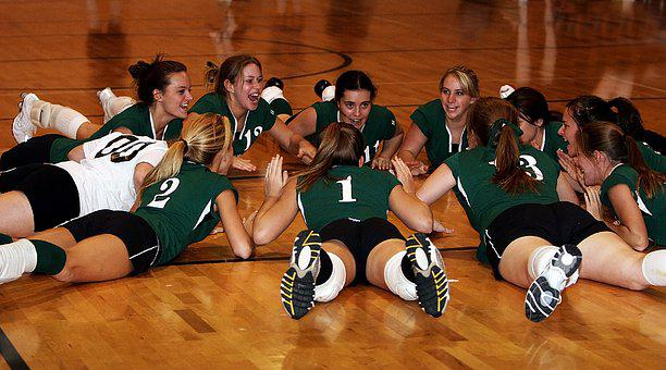 Volleyball Team, Players, Team Mates, Tournament, Young