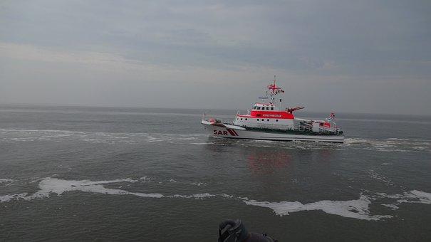 Distress, Lifeboat, Forward, Alfred Krupp, Borkum, Help