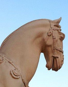 Statue, Horse, Animal, Nature, Farm, Stallion, Mammal