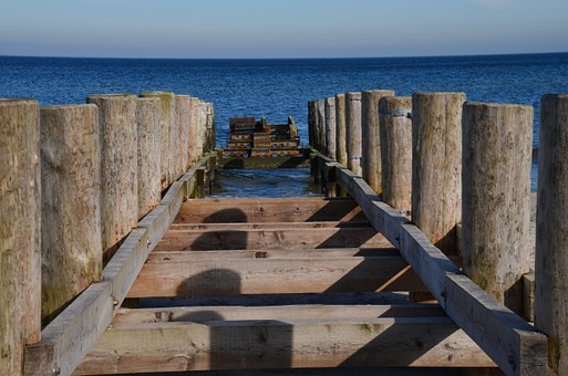 Baltic Sea, Web, Sea, Water, Coast, Lake, Beach, Jetty