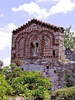 Temple, Building, Mystras, Byzantine, Ancient, Historic