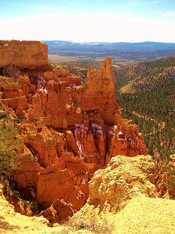Bryce Canyon, Mountains, Valley, Canyon, Bryce