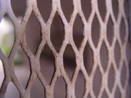 Rust, Grey, Chipped, Fence, Brown, Outside, Macro