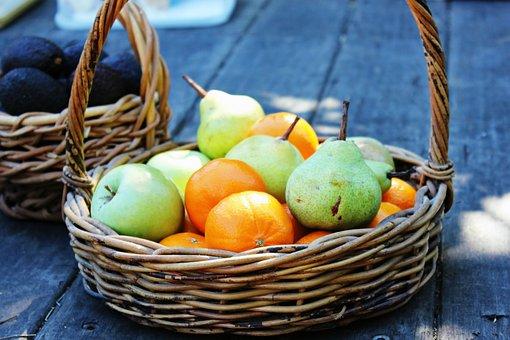 Fruit, Mandarine, Apple, Pear, Juicy, Fresh, Citrus