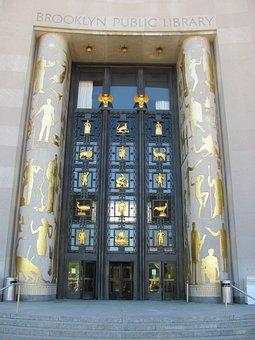 Brooklyn, Library, New York City, Entrance, Door