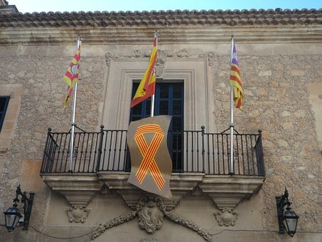 Town Hall, Manacor, Flags, Spain, Flag, Mallorca