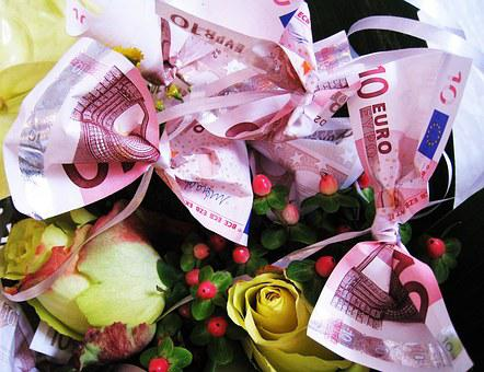 Flowers, Old 10 - Euro Tickets, Bank Note, Bouquet