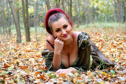 Girl, Princess, Autumn, Leaves, Yellow, Forest