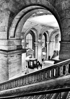 Library, Foyer, Public, City, Architecture, Building