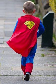 Child, Cool, Dress, Fun, Hero, Red, Feeling, Kid, Boy