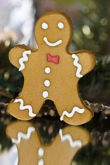 Christmas, Gingerbread Man, Gingerbread, Marzipan