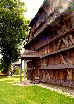 Hronsek, Slovakia, Wooden Church, History