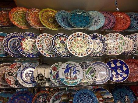 Ornamental Plates, Gifts, Istanbul, Turkey