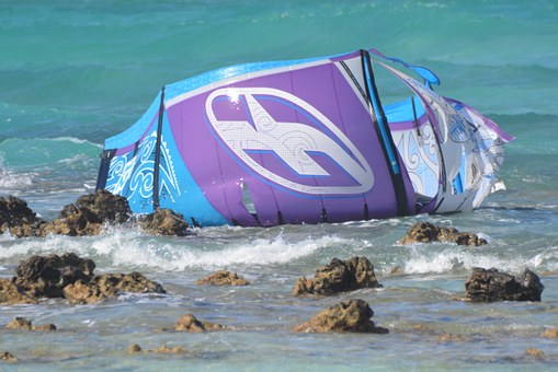 Rocks, Sea, Crash, Sailing, Weather Cloth, Kitesurfing