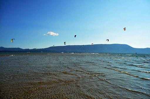 Kitesurfing, Mouth Of The Neretva, Croatia, Water