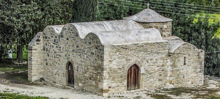 Cyprus, Kolossi, Ayios Efstathios, Church, Medieval