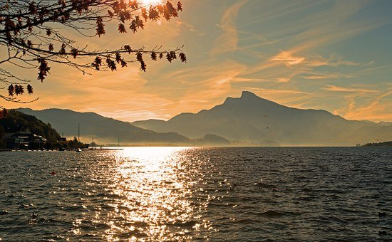 Landscape, Lake, Nature, Water, Mountains, Bank