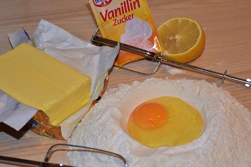 Bake, Dough, Flour Sugar, Egg, Butter, Lemon
